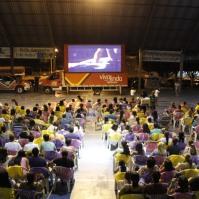 Cerca de 300 pessoas assistiram ao Filme Gonzaga - de Pai para Filho. Foto: Cassiane News
