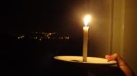 """""""Santa Rita sem energia e Alto Araguaia iluminada ao fundo contrasta diferenças no abastecimento de energia das duas cidades"""". Foto: Laura Cristina"""